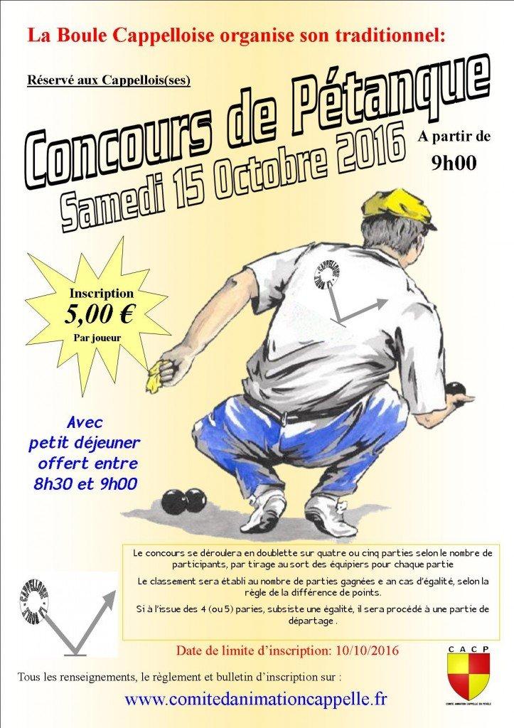 affiche concours petanque